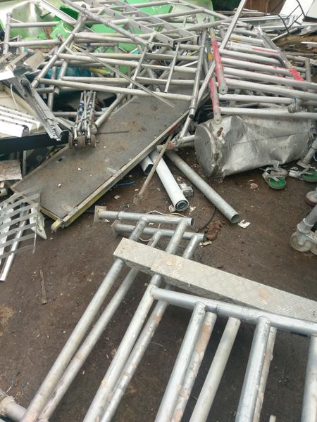 Removing metal waste in Wisbech